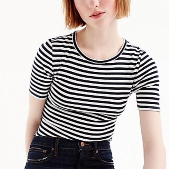 J. Crew Tops - New JCrew Stripes perfect t-shirt